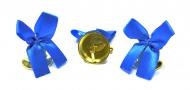 Колокольчик для выпускника с голубой атласной ленточкой