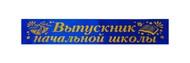 Выпускнику начальной школы (синие, атлас)- Книжка
