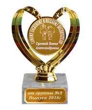 Кубок - Самому ласковому и веселому воспитателю - именной