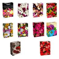 Пакет подарочный - Цветы (микс) - 14*20*7