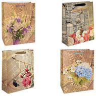Пакет подарочный - Газета (микс) - 18*23*10