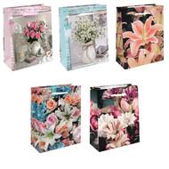 Пакет подарочный - Цветы (микс) - 26*32*10