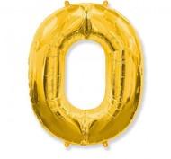 Воздушный шар с цифрой 0, фольгированный, 40