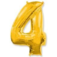 Воздушный шар с цифрой 4, фольгированный, 40