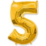 Воздушный шар с цифрой 5, фольгированный, 40