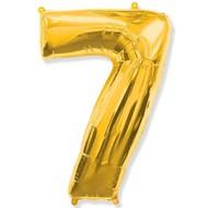 Воздушный шар с цифрой 7, фольгированный, 40