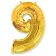 Воздушный шар с цифрой 9, фольгированный, 40