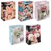 Пакет подарочный - Цветы (микс) - 20*25*10