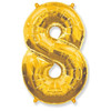 Воздушный шар с цифрой 8, фольгированный, 40